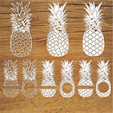 Pineapples SVG files for Silhouette Cameo and Cricut.