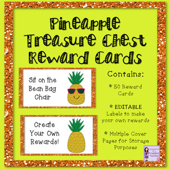 EDITABLE Reward Coupons: Pineapple Themed - 50 Rewards for Classroom Management