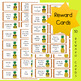 EDITABLE Reward Coupons: Pineapple Themed - 50 Reward Coupons