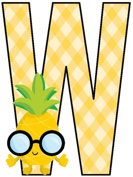 Pineapples Welcome Banner