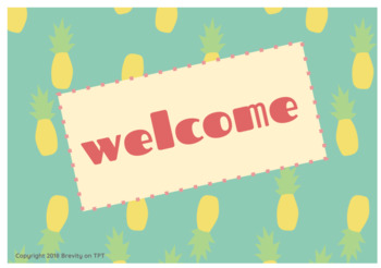 Pineapples Welcome Sign Card