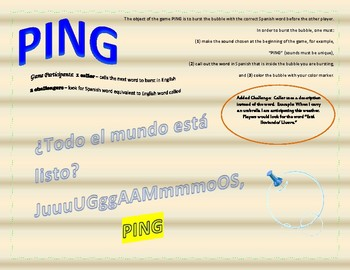 Ping Game - La Ropa - Clothing - Que llevas? - What are you wearing? - Review