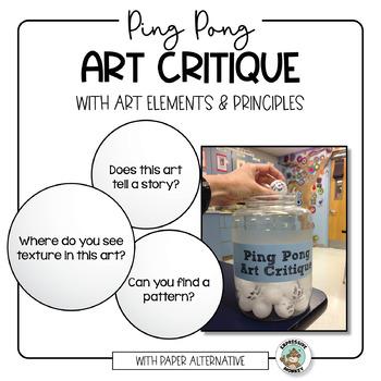 Art Critique with Ping Pong Balls