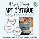 Art Critique with Ping Pong Balls