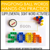 Ping Pong Ball Words - Sight Word Fine Motor Practice