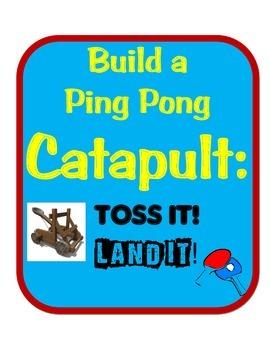 Ping Pong Catapult STEM Engineering Science Challenge- Sim