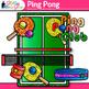 Rainbow Ping Pong Clip Art   Sports Equipment for Physical Education Teachers