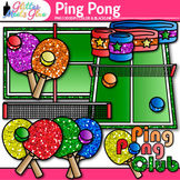 Rainbow Ping Pong Clip Art {Sports Equipment for Physical