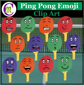 Ping Pong Emojis Clipart #2 | Sports Game Emotions Clip Art