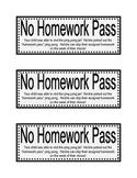 Ping Pong Jar : Homework Pass Printable