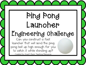 Ping Pong Launchers: Engineering Challenge Project ~ Great STEM Activity!