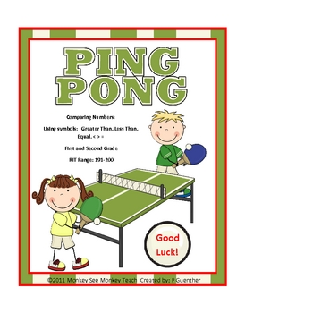 Ping Pong Math Comparing Numbers