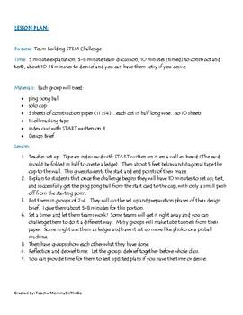 Ping Pong Maze STEM Challenge
