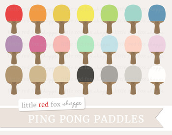 Ping Pong Paddle Clipart; Game, Sports