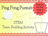 Ping Pong Pursuit- STEM Team Building Activity