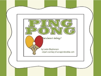 Ping Pong - What Doesn't Belong?