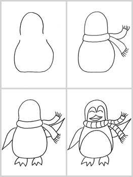 Hiver: Arts plastiques: Pingouins et glaciers, hiver, plan de cours en français