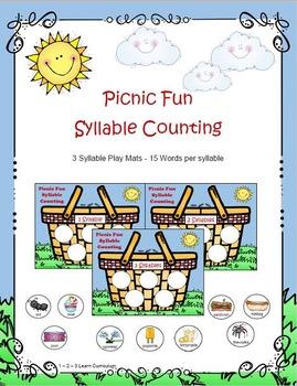 Picnic Fun Syllable Counting