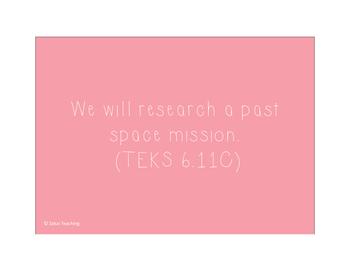 Pink 6th grade Science TEKS
