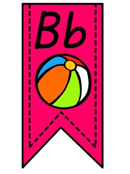 Pink Alphabet Banner