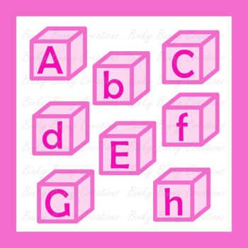 Pink Alphabet Blocks Clip Art Clipart