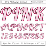 Pink Alphabet Clipart Valentines Alphabet Letters Clip Art