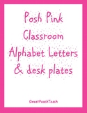 Pink Alphabet Letters & Nameplates