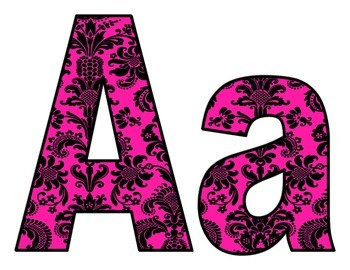 Pink Art Deco BB letters