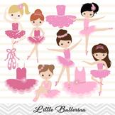 Pink Ballerina Digital Clip Art Pink Ballet Girl Clip Art Cute Little Girl 00179