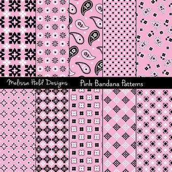 Bandana Patterns: Pink