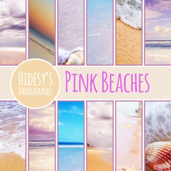 Pink Beach Digital Papers / Backgrounds / Photos for Commercial Use