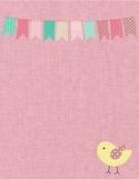 Pink Binder Cover