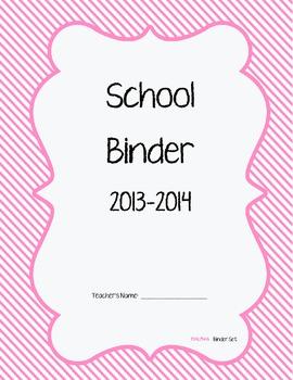 Pink Binder Organization