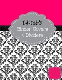 Pink & Black Binder Cover Pages - Editable