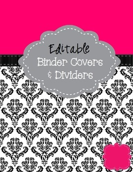 pink black binder cover pages editable by live love math tpt