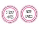 Pink & Black Supply Labels {to be used in storage baskets or drawers}