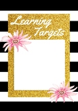 Kate Spade Inspired Learning Targets Poster