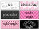 Pink, Black, and White 4th Grade Common Core Math Vocabulary Wall