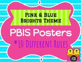 Pink & Blue Brights Theme PBIS Posters
