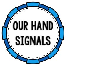 Pink & Blue Classroom Hand Signals--Multicultural Hands