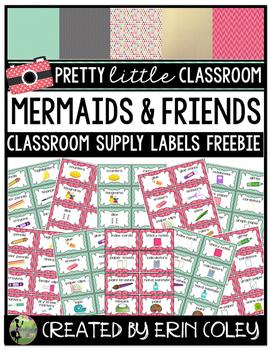 Pink & Mint Classroom Supply Labels Freebie (Pretty Little