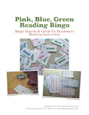 Pink, Blue, Green Montessori Reading Bingo