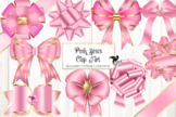 Pink Bows Clipart
