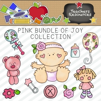 Pink Bundle of Joy Clipart Collection    Commercial Use Allowed