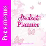 Pink Butterfly Student Planner
