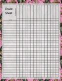 Pink Camo Camouflage Moss Grade Grading Sheet