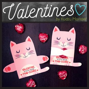 Pink Cat Valentine Candy Hugger