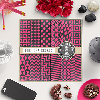 Chalkboard Paper, Pink Chalkboard Digital Backgrounds
