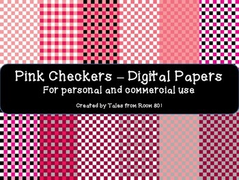 Pink Checkers - Digital Papers