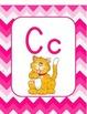 Pink Chevron Alphabet